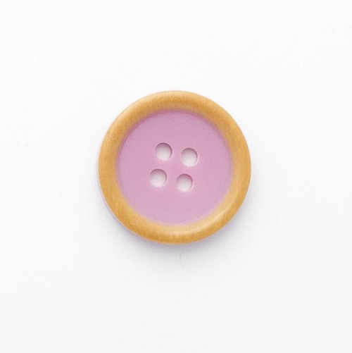 Mauve 4 Hole Button Size - 20mm (Sold Single)