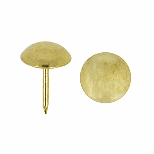 Gold Upholstery Nails: 17mm x 12mm - (50 nails  in a pack)