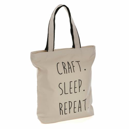 Tote Bag - With Craft Sleep Repeat' Logo