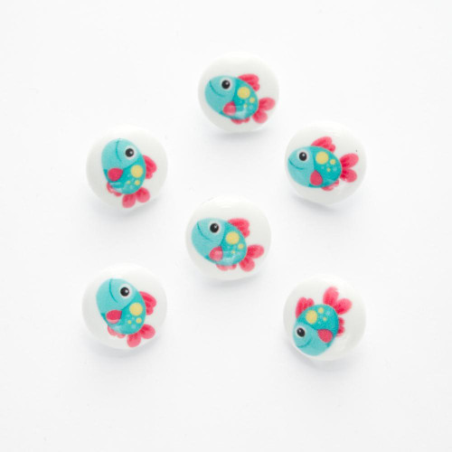 Fish Shank Button  - 15mm ( Sold individually)