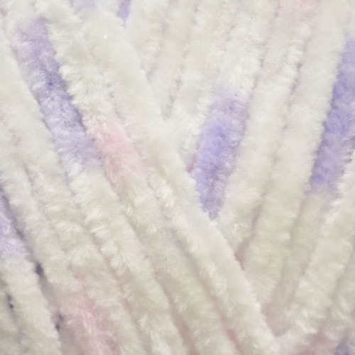 White with Pink & Lilac Mix Flutterby Chunky (100g)