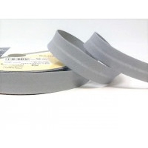 Dove Grey Polycotton BiasBinding, 18mm wide, Sold Per Metre