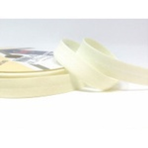 "Antique White Polycotton Bias Binding, 30mm wide, Sold Per Metre"""