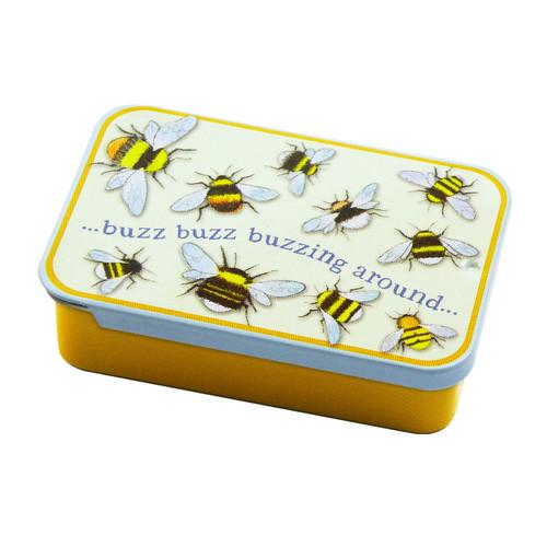 Bees Miniature Slide-Open Pocket Tin