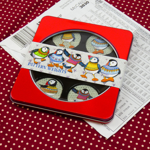 Woolly Puffins Pattern Weights, Set of 6
