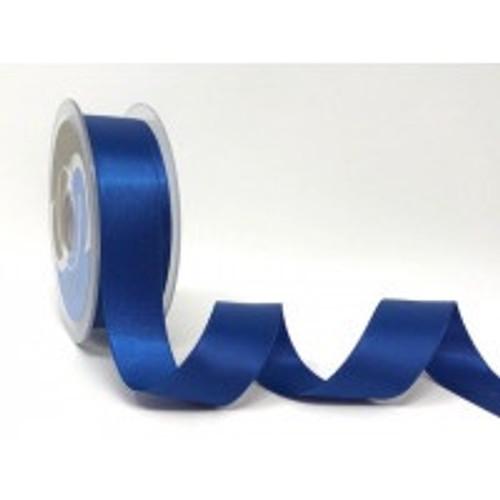 Royal Blue Satin Ribbon, 25mm wide, Sold Per Metre