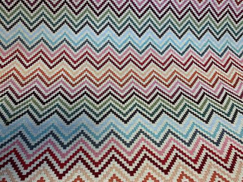 Chevron Multi Tapestry Woven Heavyweight Fabric, 140cm/55in wide, Sold Per HALF Metre