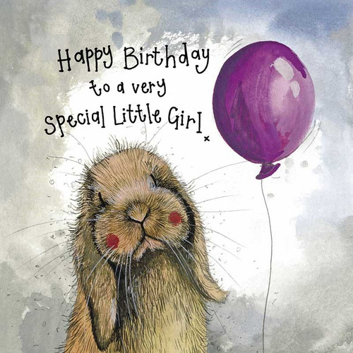 Sunshine Little Girl Birthday Card