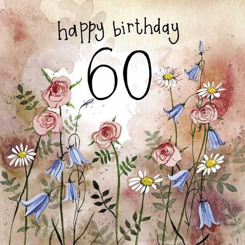 Sunshine 60th Birthday Meadows Card