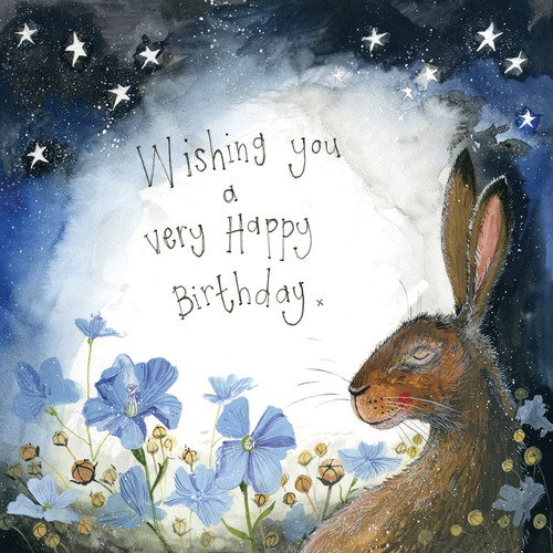 Starlight Hare Birthday Card