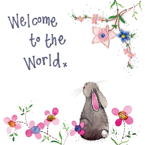 Welcome To The World New Baby Rabbit Card