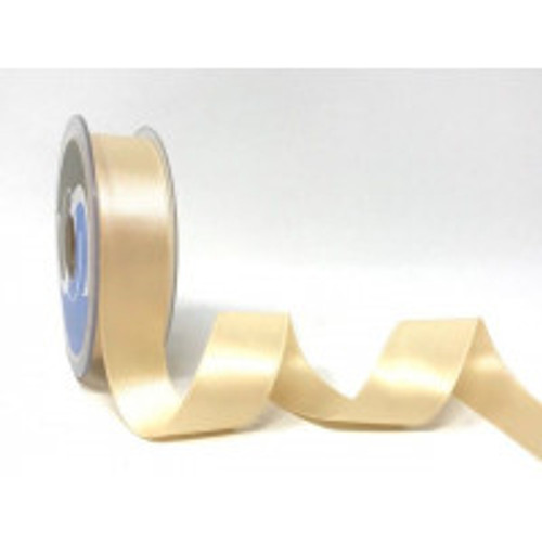 Ivory Satin Ribbon, 6.5mm wide, Sold Per Metre