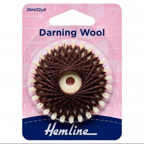 Brown Darning Wool (20mtr card)