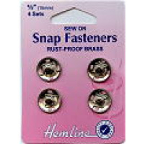 Sew On Snap Fasteners - Silver 15mm