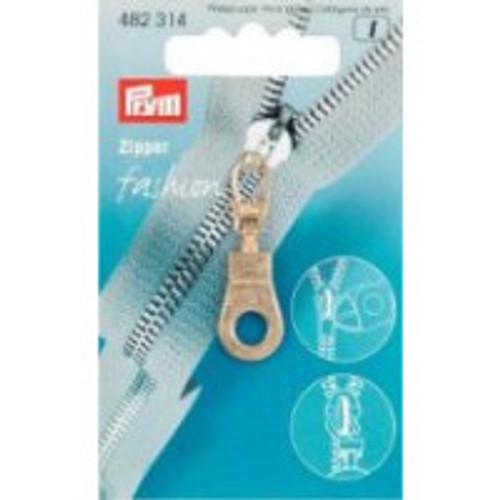Prym Fashion Zipper puller  Eyelet in  metal gold Colour