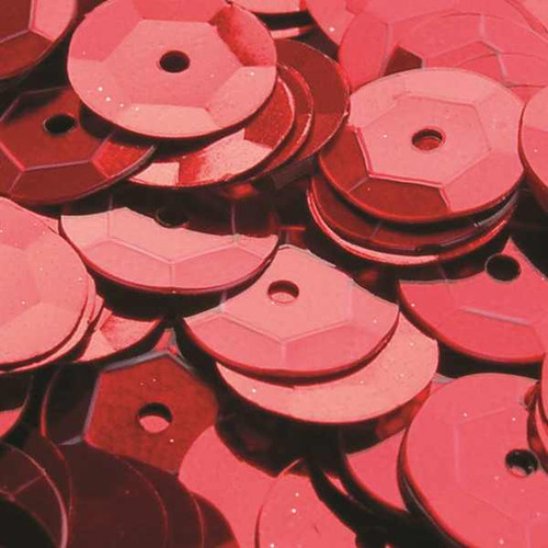 Red 6mm Cup Sequins (Pack of 500 approx)