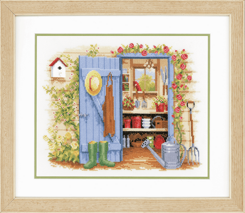 My Garden Shed Counted Cross Stitch Kit