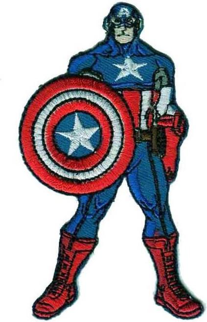 Captain America Super Hero Iron-on Sew-on Applique Motif