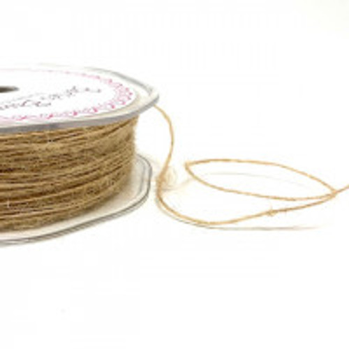 Natural Jute Twine - 1mm ( Sold By the Metre)