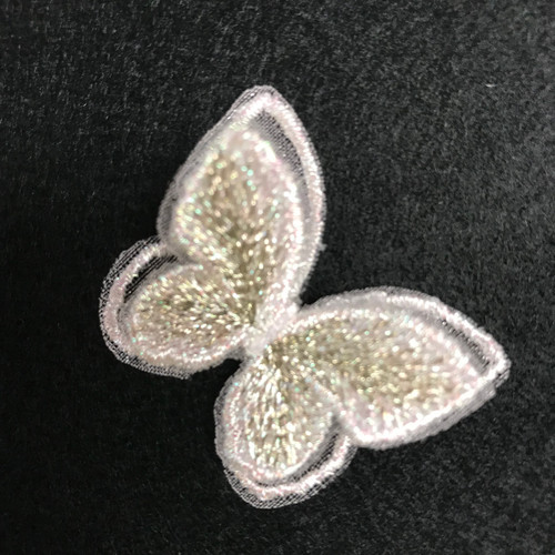 Pearl & Gold Butterfly Iron-on Sew-on Applique Motif