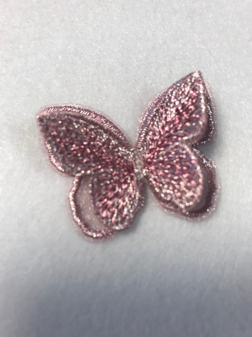 Rose Pink Butterfly Iron-on Sew-on Applique Motif