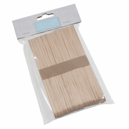 Lollypop Sticks - Wooden( Large: 150 x 18 x 1.6mm) A Pack of 50