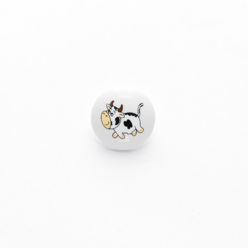 Cow Buttons 15mm with a Shank (Sold Individually)
