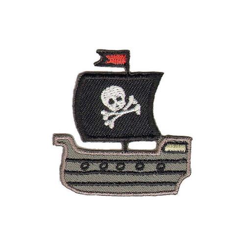 Pirate Ship Iron-on Sew-on Applique Motif