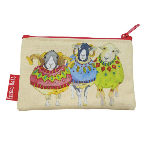 Sheep in Sweaters Zip-up Purse