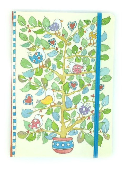 Hearts & Trees A5 Paperback Notebook with 100 Lined Pages