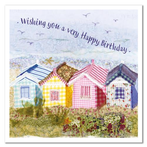 Birthday Huts Greetings Card