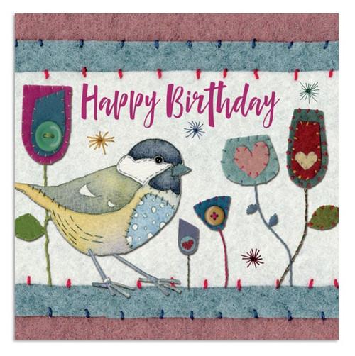 Great Tit Birthday Greeting Card