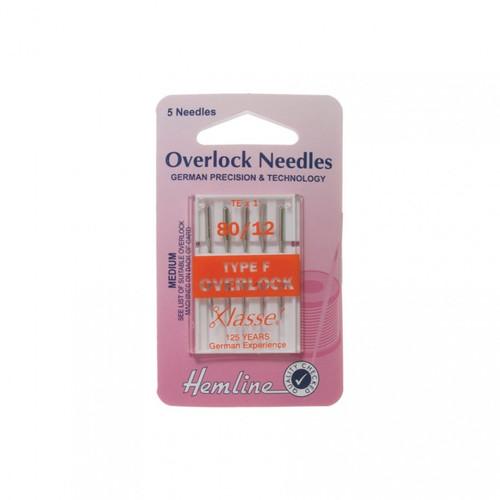 Machine Needles - Overlocker/Serger - Type F, Size 80/12