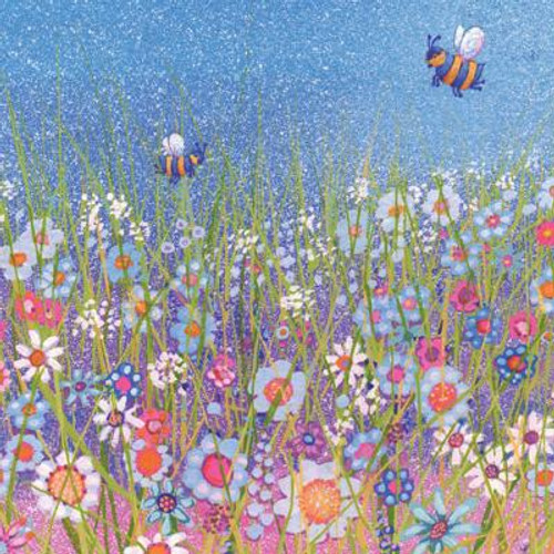 Bees in the Meadow Greeting Card