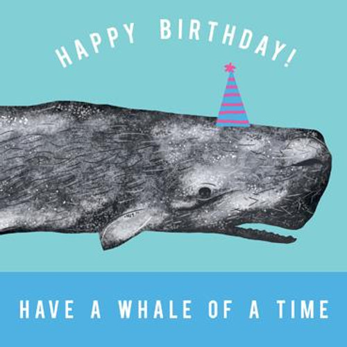 Birthday Whale of a Time Greeting Card
