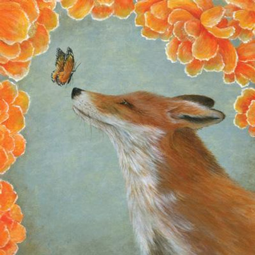 Fox and the Butterfly Greeting Card