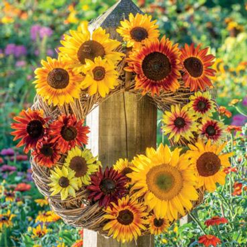 Sunflower Garland Greeting Card