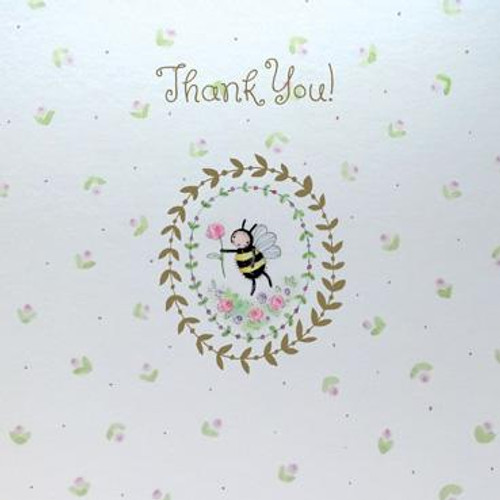 Thank You (Bee) Greeting Card (Foil Finish)