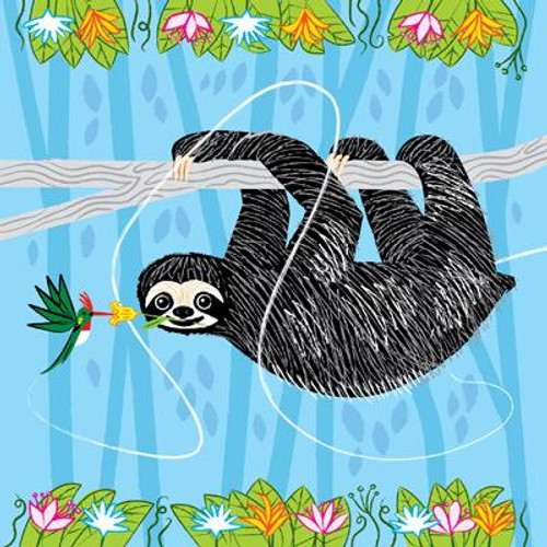 The Sloth and the Hummingbird Greeting Card