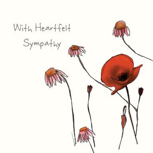 With Heartfelt Sympathy (Poppies) Greeting Card