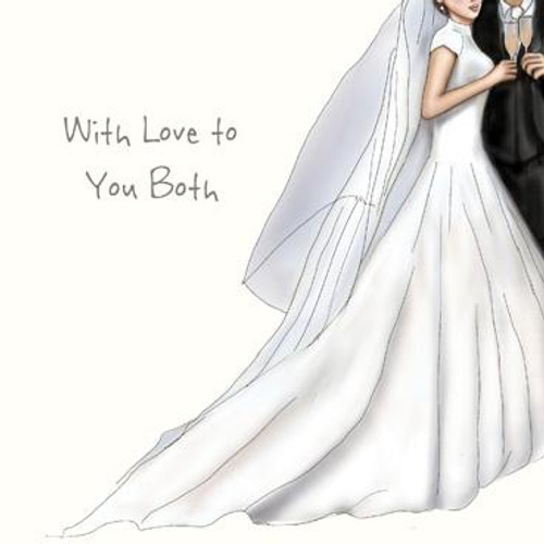 With Love to you Both Special Wedding Card (With Adornments)