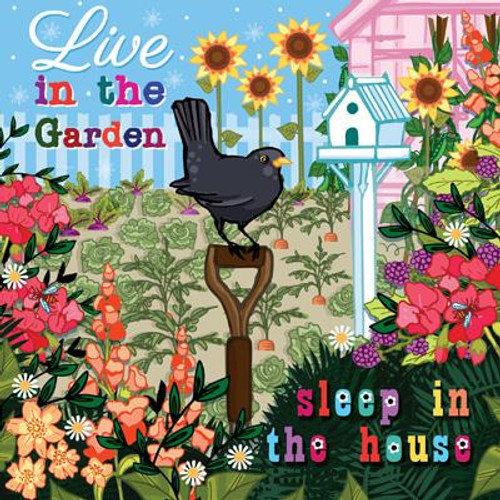 Live in the Garden Greeting Card