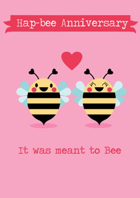 Hap-bee Anniversary Greeting Card