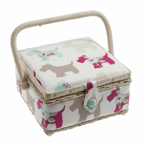 Scottie Dog Small Sewing Box