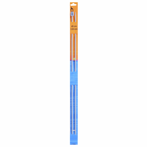 "3.25mm (UK10) Classic Knitting Pins, 40cm/16"" length"