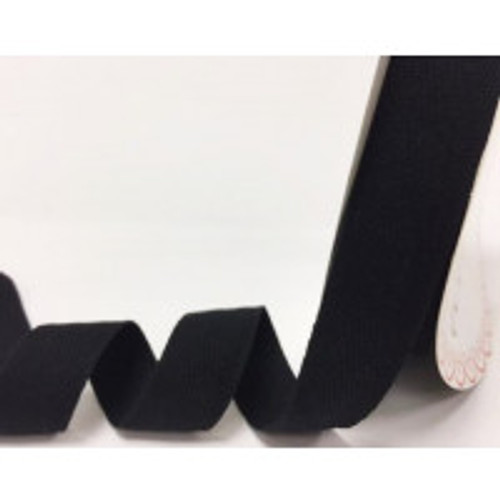 Black 100% Cotton Twill Webbing, 25mm wide, Sold Per Metre