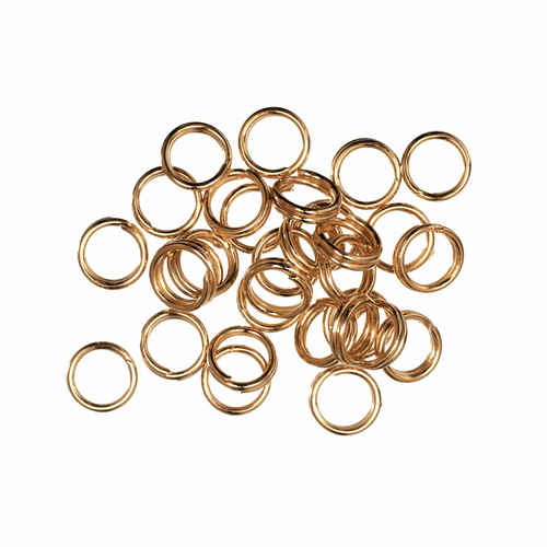 Gold 5mm Split Rings, 30pcs Per Pack