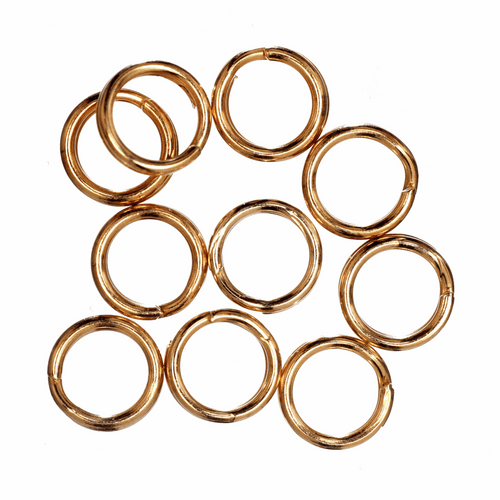 Deluxe Gold Plated 5mm Split Rings, 10pcs Per Pack