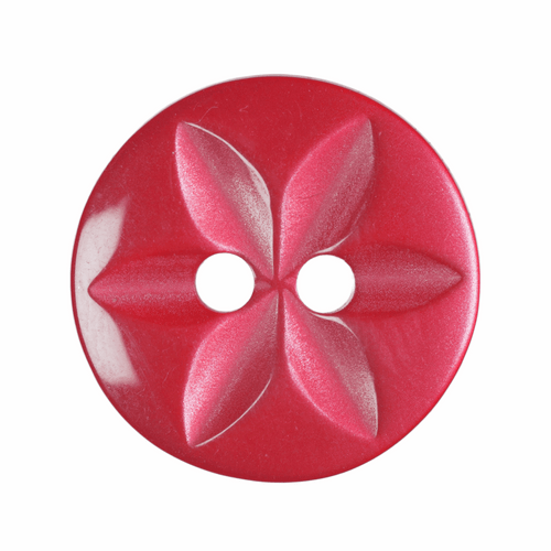 Red Star Button, 16mm (5/8in) Diameter (Sold Individually)
