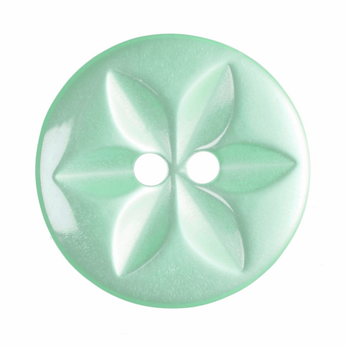Turquoise Star Button, 16mm (5/8in) Diameter (Sold Individually)
